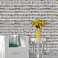 3d peel and stick backsplash removable self adhesive mosaic stone tile wall decal sticker diy kitchen bathroom home decor vinyl