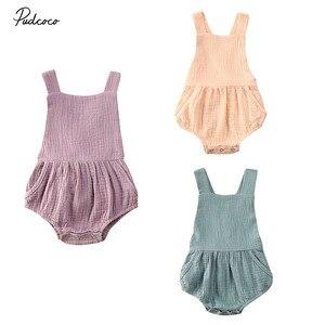 2020 одежда для малышей костюм боди песочник для маленьких мальчиков и девочек комбинезон одежда из хлопка и льна пляжный костюм