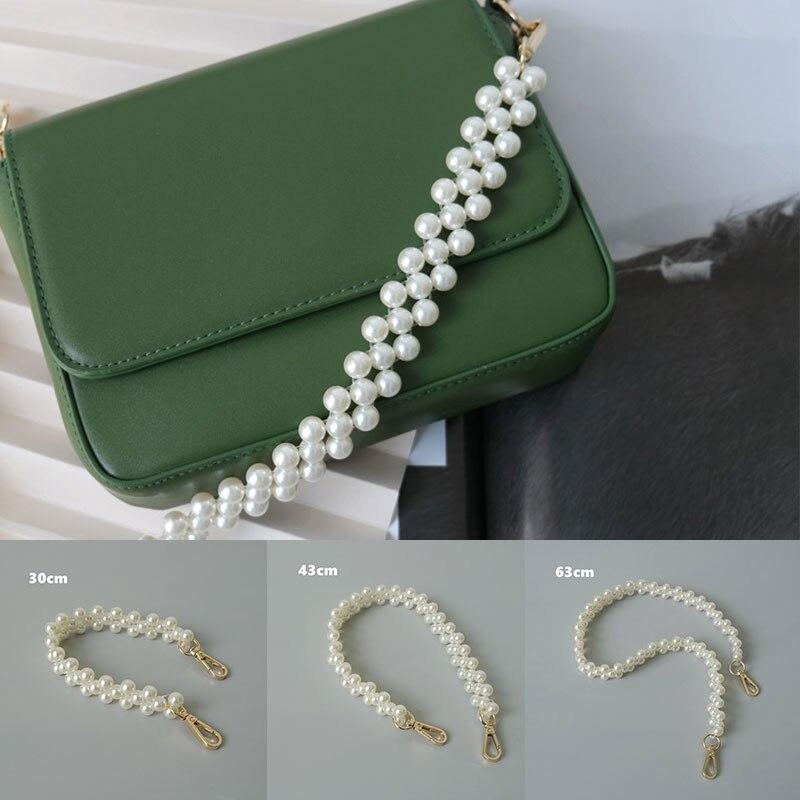 Элегантная Цепочка с имитацией жемчуга, изысканный красивый аксессуар для сумок, универсальная цепочка для сумок с имитацией жемчуга
