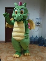 greendinosaur dragon mascot costume for adults hot sell party costumes carnival costumes fancy dress costumes free shipping