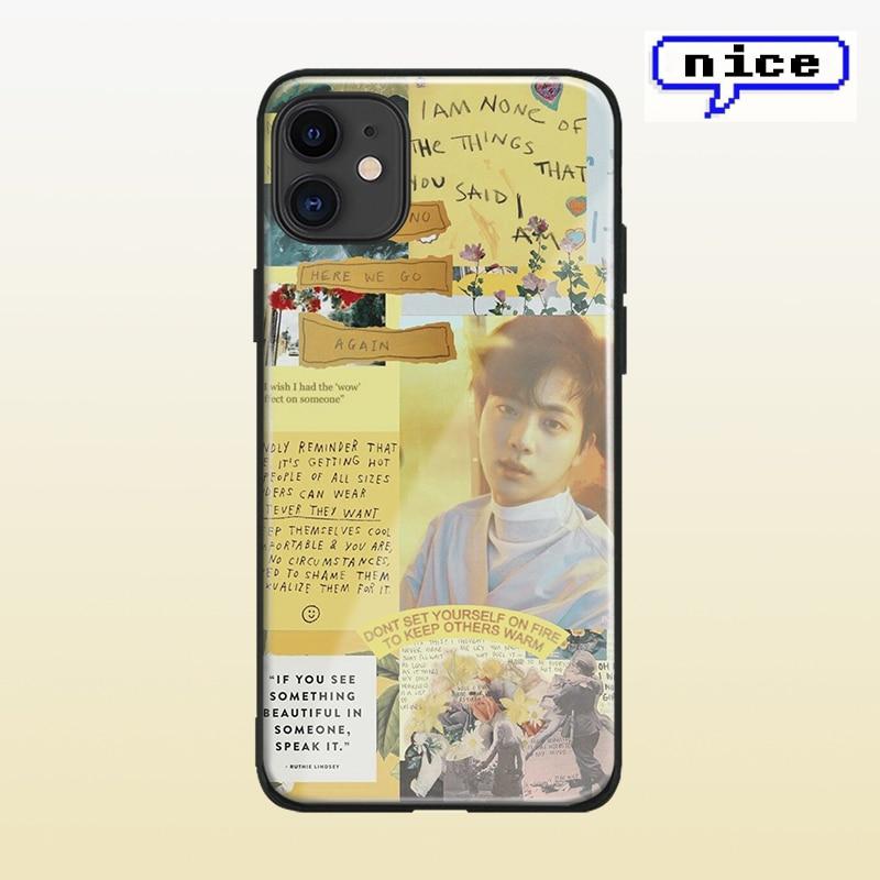 Kim Seok-jin K-POP Collage de shell para el iPhone 6 6s 7 8 x xr xs 11 pro max Samsung Nota 8 9 10 20 Ultra Plus teléfono caso