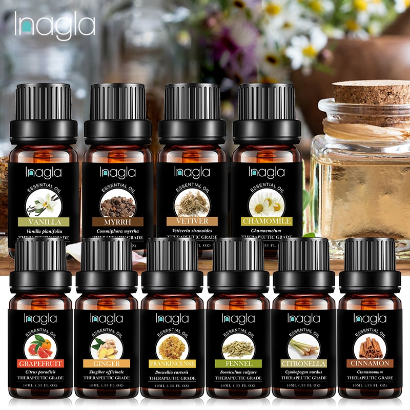 Inagla MyrrhEssential Oil Water-soluble Fruit  Relieve Stress for Humidifier Fragrance Lamp Air Fres