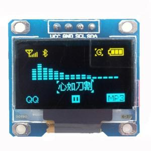 Driver IC S128x64 Blue LED Display Module SSD1306 128x64 LCD Screen Board GND, VCC ,SCL, SDA for Arduino