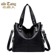 Retro Large-capacity Leather Women's Handbags Shoulder Bags For Women 2021 Luxury Brand Designer Lad