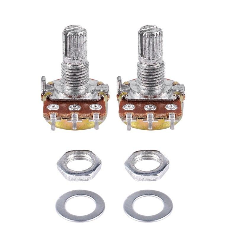 2 uds B200K 200K ohm lineal simple cono giratorio potenciómetros