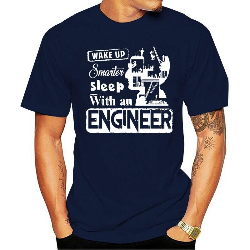 para homem acordar sono mais inteligente com uma camisa de engenheiro legal impressotopo 2021 New Year t-shirt