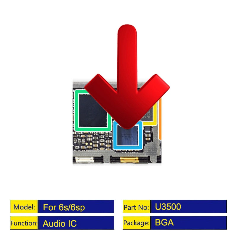 5 pçs/lote 338s00105 grande anel de áudio ic chip para iphone 7p u3101 6s/6s mais u3500 cs42l71 codec áudio ic
