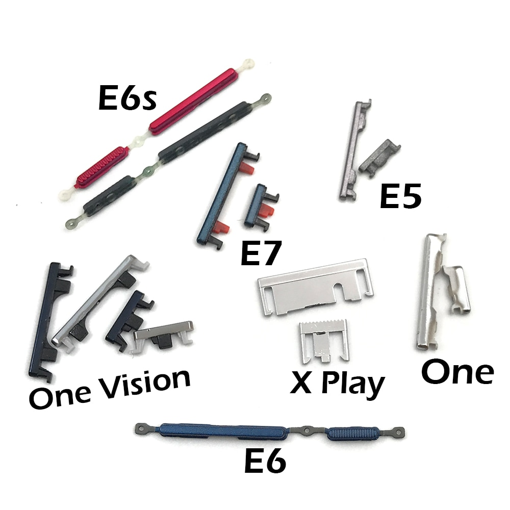 100 قطعة/السلع ل موتو واحد الانصهار زائد E6S E6 E5 E 2020/ل موتو واحد الطاقة الجانب مفتاح + حجم زر مجموعة استبدال جزء