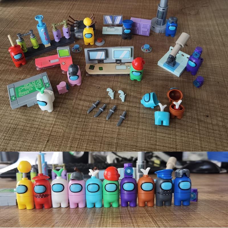 AliExpress - Game Series Amonges Us Space Alien Figures Model Building Blocks Bricks Action Figure Kids Toys Children Gift Xmas