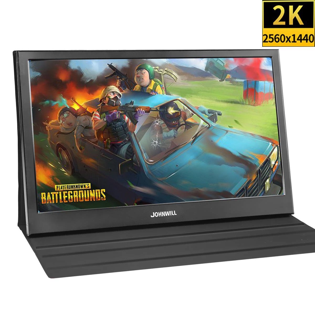 13.3 Inch 2K Portable Monitor for PS4 Wins 7 8 10 Full HD 2560 X 1440 IPS Screen Ultra Thin Display +2 HDMI Interface with Case 13 3 inch portable computer monitor pc 2k 2560x1440 hdmi ps3 ps4 xbo x360 ips lcd led display for raspberry pi wins 7 8 10 case