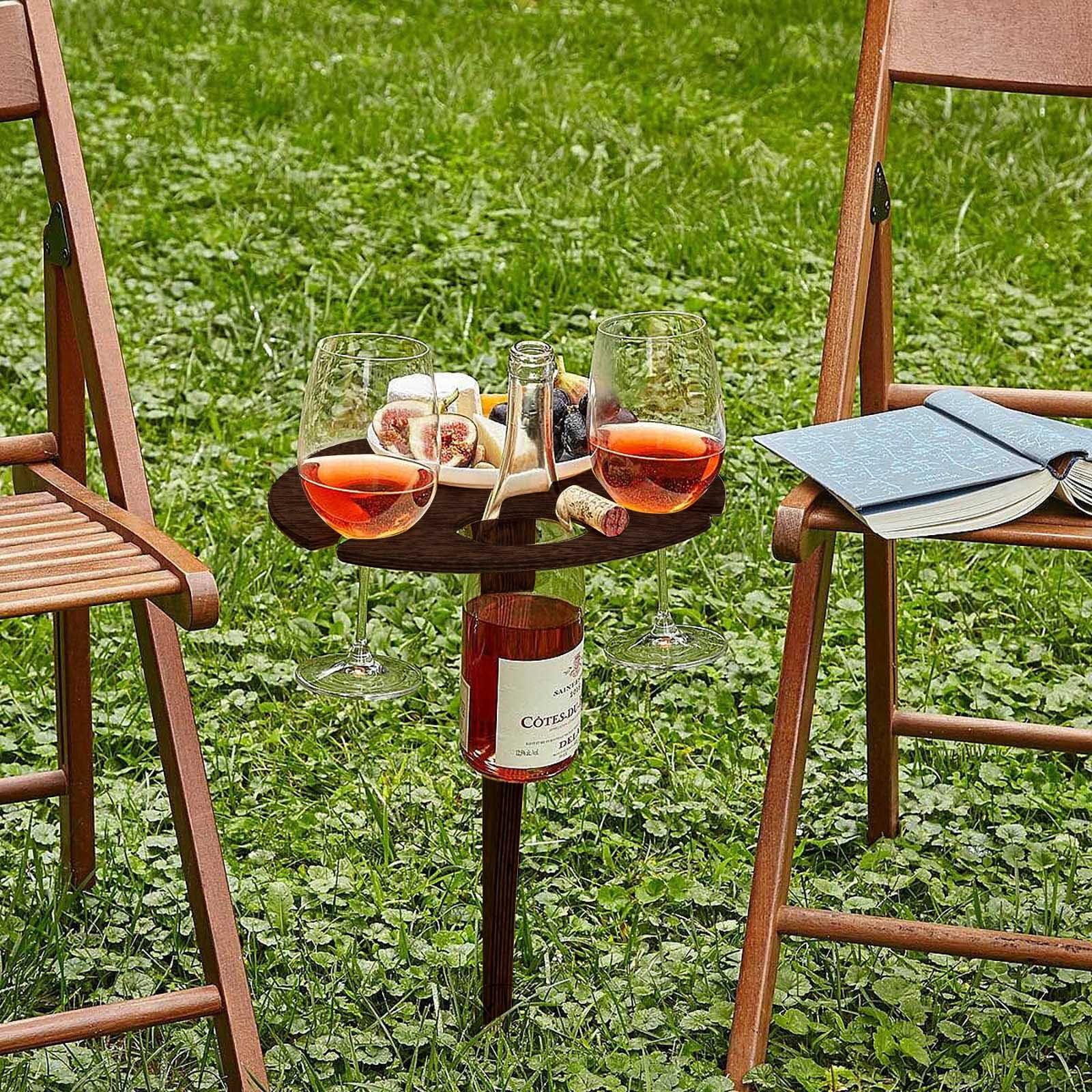 Mesa de acampada al aire libre, estante para vino, equipo de acampada,...