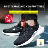mens safety working sneakers lightweight comfortable indestructible steel toe shoes mens ankle boots