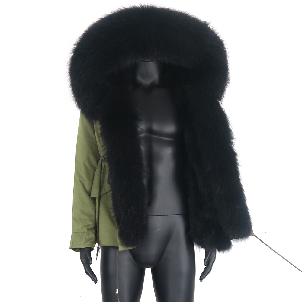 Парка мужская короткая с мехом енота на капюшоне, теплая Толстая водонепроницаемая верхняя одежда, армейский зеленый цвет, зима