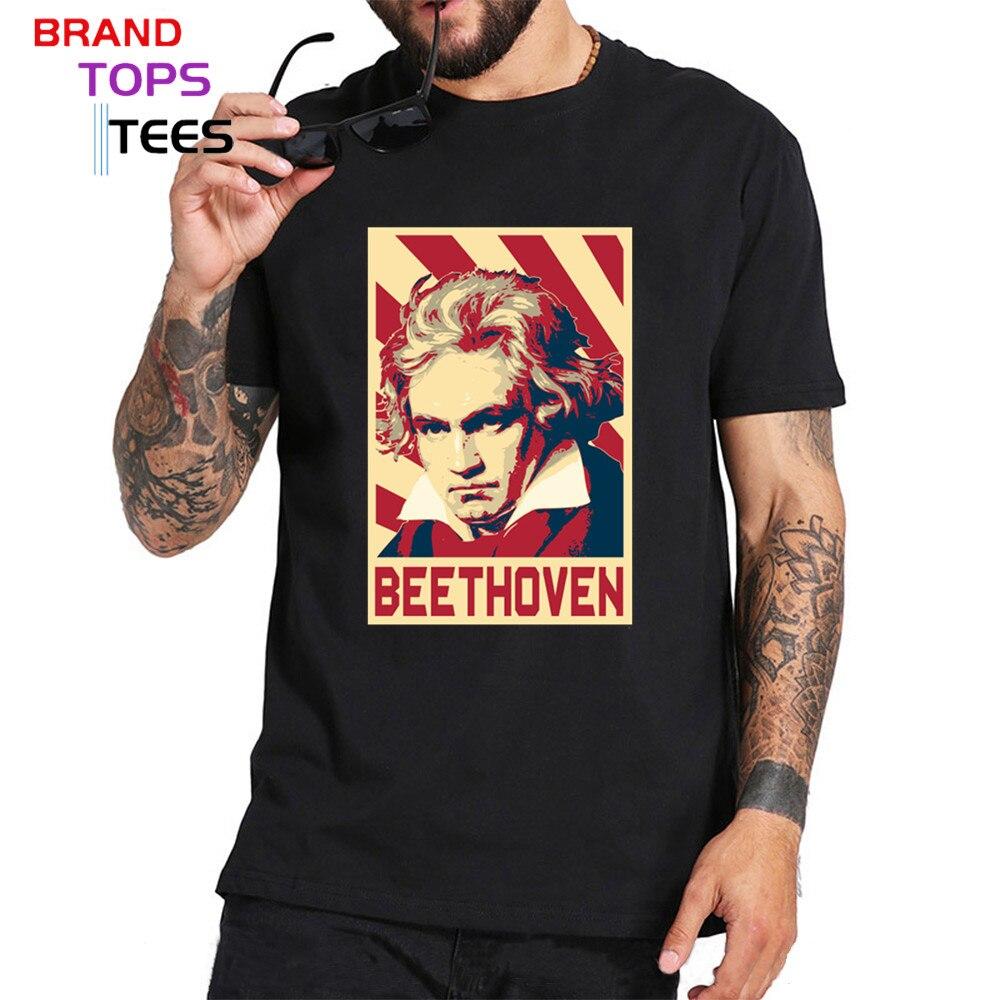 Camiseta con póster de la bandera de Ludwig Van beetwen para hombre,...