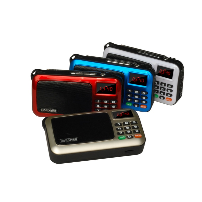 Mini portátil Radio ancianos manejado Digital USB FM TF MP3 con pantalla LED