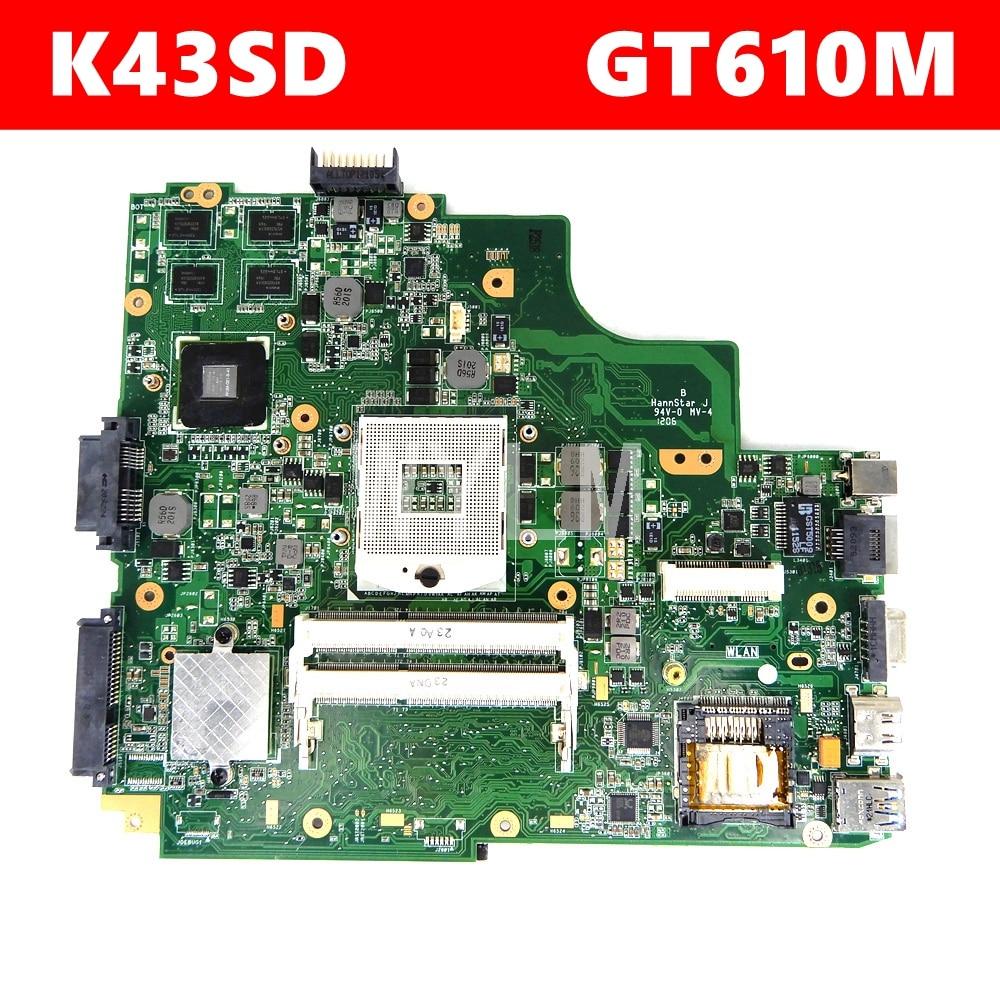 K43SD GT610M Main board Rev 4.1 ل ASUS K43SD X43S A43SD A43S P43SD اللوحة المحمول K43SD اللوحة K43SD اللوحة