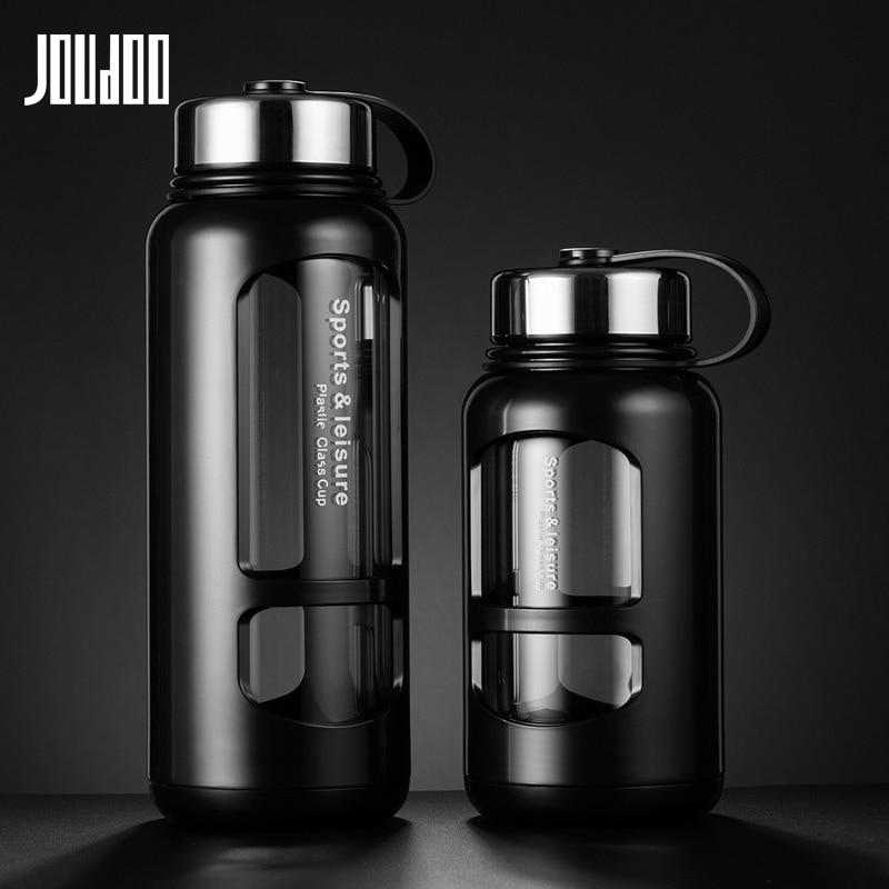 JOUDOO 700ml 1000ml de vidrio portátil botellas de agua para Outdoor botella espacial deportes botella de agua a prueba de fugas bicicleta escalada regalo 35