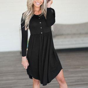 women dress fashion ladies female womens hot autumn classics black dress autumn dress vintage long sleeve dress gothic fall
