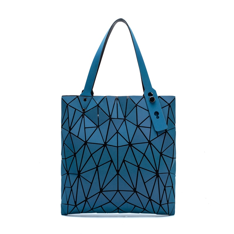 Women Handbag Bag 2020 Luxury Luminous Geometric Shoulder Bags Tote Holographic Fashion Folding Shopping Bag bolsa feminina