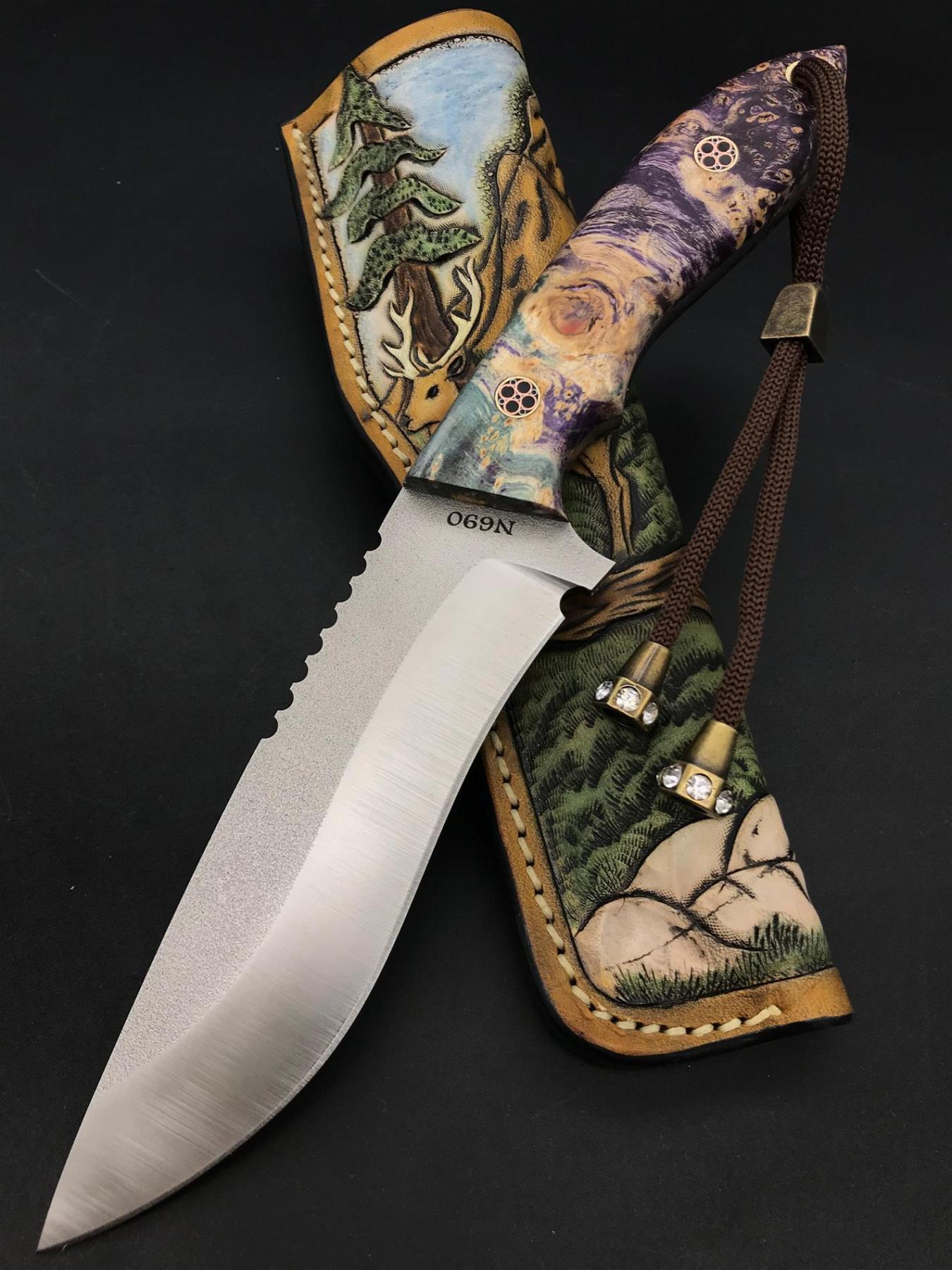 Handmade N690 Camping and Nature Knife TK09