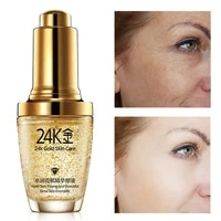 face serum anti wrinkle moisturizing deep nourish anti aging anti oxidation lighten pores repair brighten gold skin care 30ml