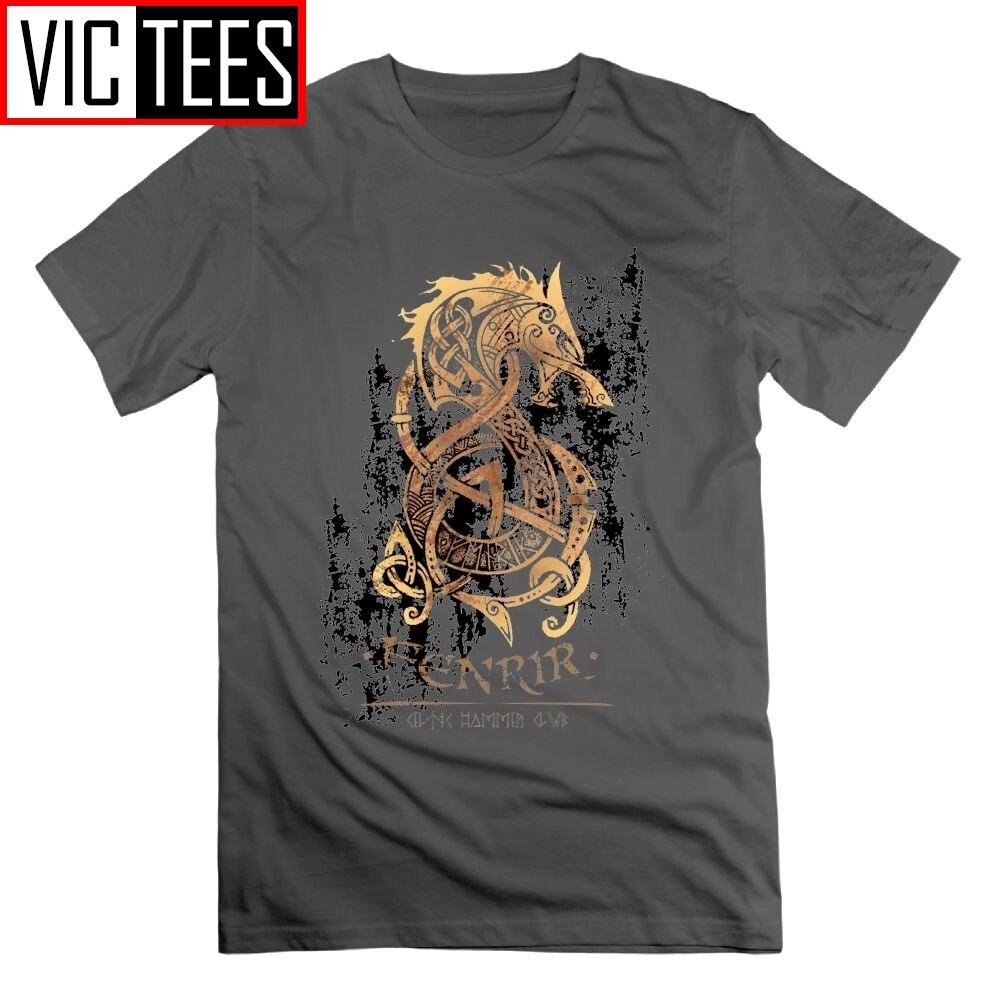 Viking The Nord Monster Wolf один Валгалла футболка с короткими рукавами футболки 100% хлопок винтажные топы для мужчин