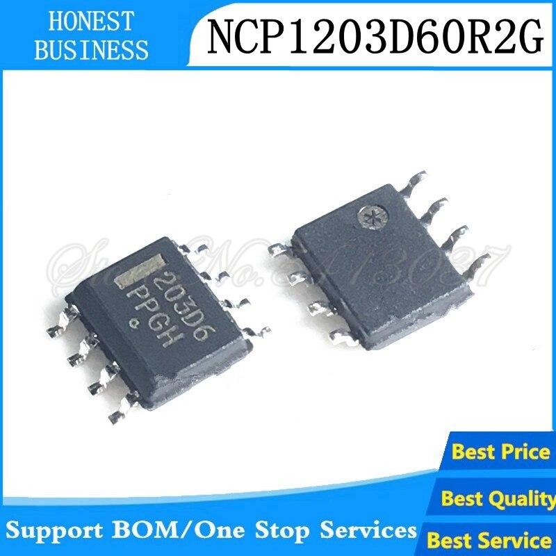 (5-10 peças) ncp1203d60r2g ncp1203d6 ncp1203 203d6 sop-8 chipset melhor qualidade