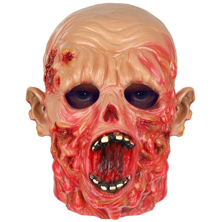 Halloween Scary Mask Horrible Sanguinary Ugly Face Lifelike Zombie Resident Cosplay Toy Evil Ghoul Act Props Masquerade Hoax 할로윈