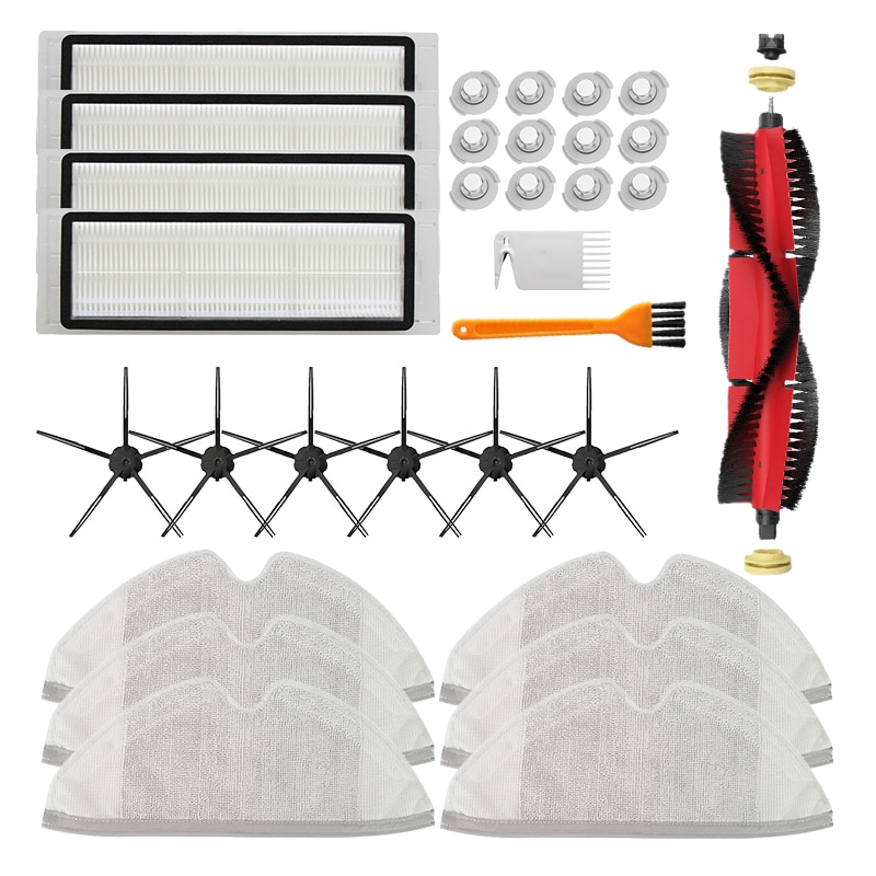 5 Arms Side Brushes HEPA Filter for Xiaomi MI Robot for Roborock S50 S55 S5 MAX S6 for Xiaowa E35 E2 Vacuum Cleaner Accessories