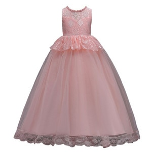 Children Designer Evening Wear Red White Purple Girl Pageant Gown Vestidos Flower Princess Girls Dresses Party and Wedding 3-14T