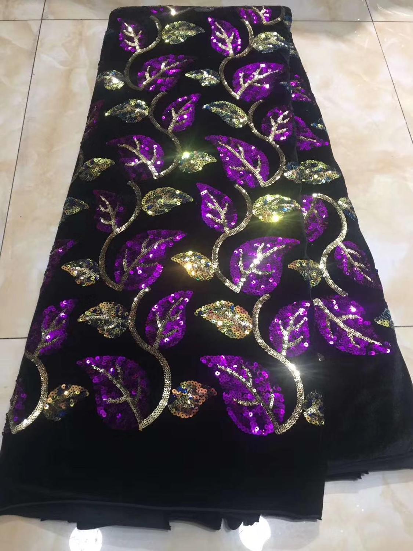 Gran oferta, encaje de red de estilo francés a la moda de encaje de negeria laceJOY-23018 con lentejuelas africanas y varios colores para vestido de fiesta