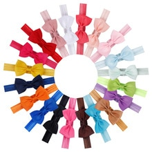 20pcs/set Cute Bow Tie Headband Hair band DIY Handmade Grosgrain Ribbon Elastic Hairband Baby Kids H