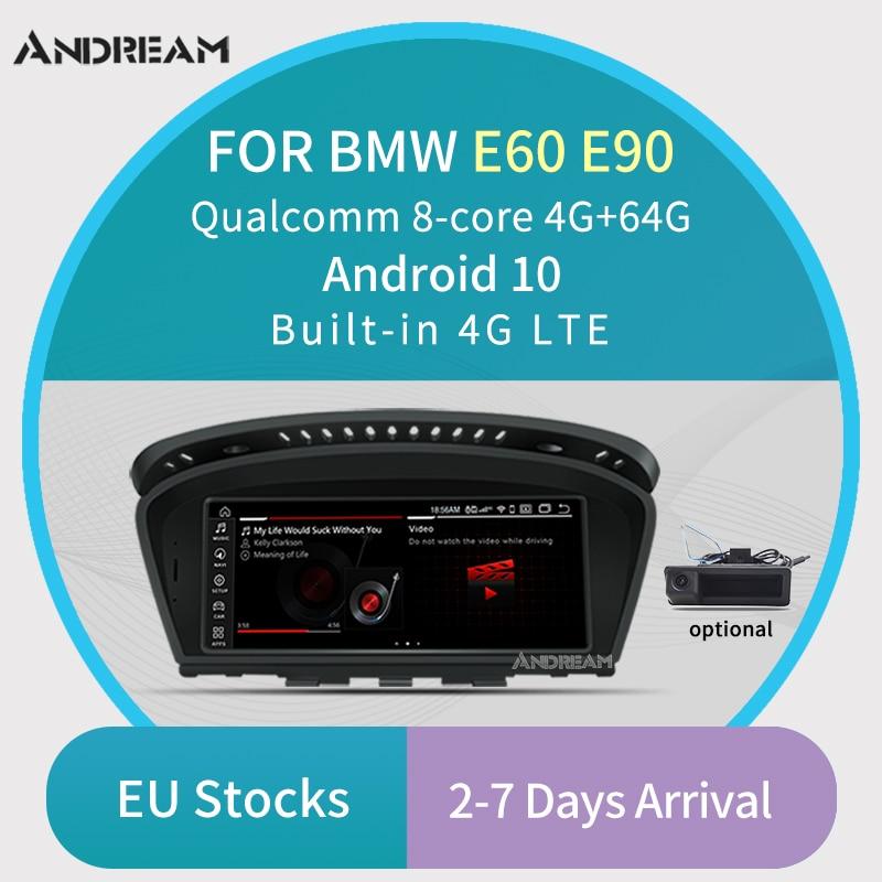 """8.8 """"Qualcomm Octa-Core 4G + 64G 4G LTE Android 10 Car Multimedia IPS per BMW Series3/5 E60 E61 E90 E91 Bluetooth di navigazione gps"""