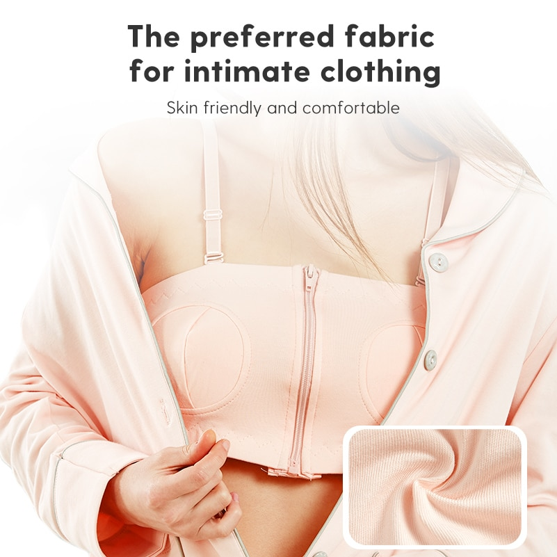 Boboduck Breast Feeding Bra Nursing Maternity  Zipper Design Maternity Cotton Hands Free Underwear For Pregnancy Women F8233 enlarge
