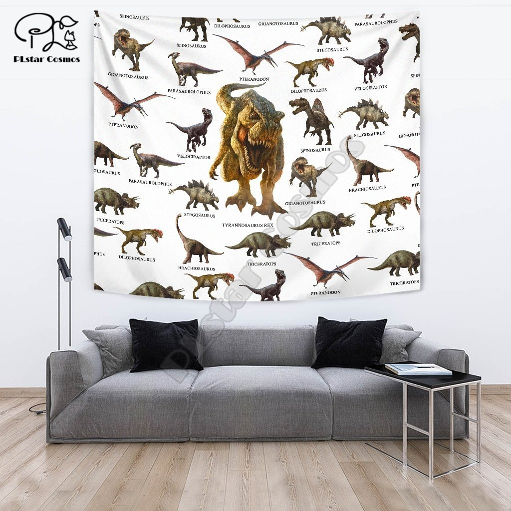 dinosaur Funny cartoon Blanket Tapestry 3D Printed Tapestrying Rectangular Home Decor Wall Hanging style-3