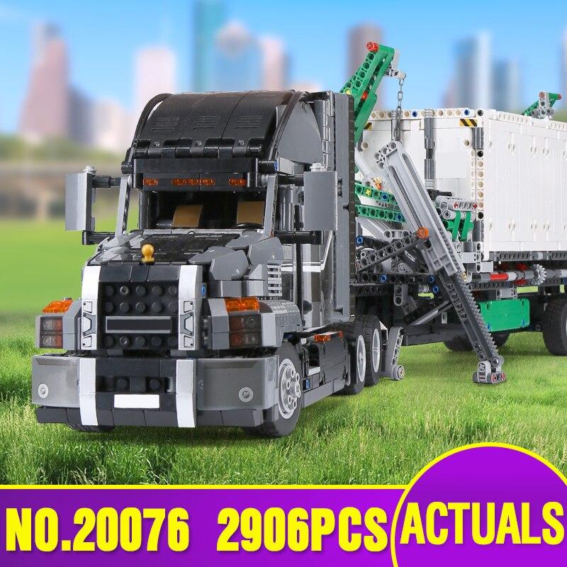 20076 Serie Técnica el Macking conjunto de camiones grandes Compatible 42078 bloques de construcción ladrillos juguete educativo regalos de navidad