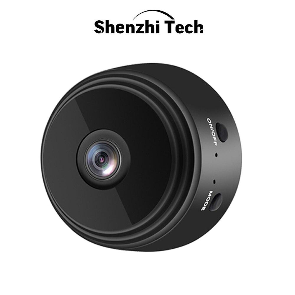 Mini câmera de segurança para casa, filmadora pequena com wi-fi 1080p hd ip sem fio ir, visão noturna e detector de movimento