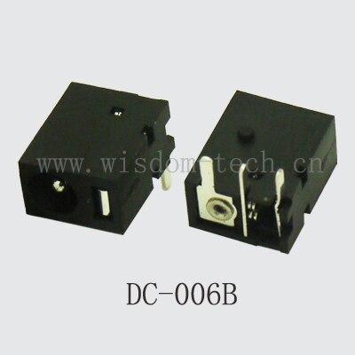 شحن مجاني 500 قطعة/الوحدة المركزي pin1.0/1.3 * O.D.3.5 التوصيل الطاقة جاك DIP 3pin موصل للعب DC-006B