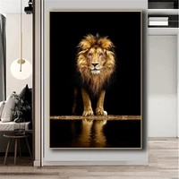 lion in the dark canvas art posters and prints animals wall art decorative pictures african lion canvas painting home wall decor