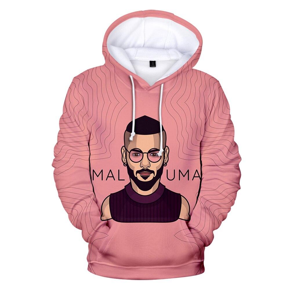 Maluma cantante colombiana songwriter 3D nueva llegada sudaderas con capucha sudadera Cool manga larga mujeres/hombres/niños sudadera Casual tela