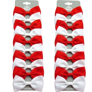 20PCS/Lot Cute Red White With Clip Grosgrain Ribbon Bow Hairpins 2020 Scrunchie Korean CLIP Hair Accessories For Baby Girl