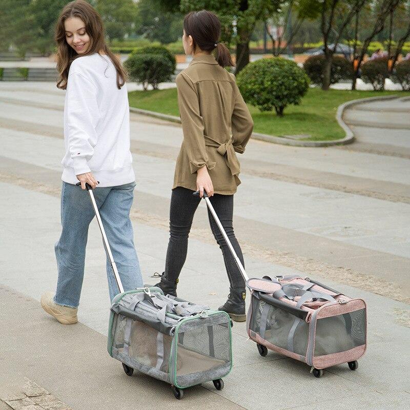 Carrito de Mascota para coche de bolsa de viaje plegable impermeable para...
