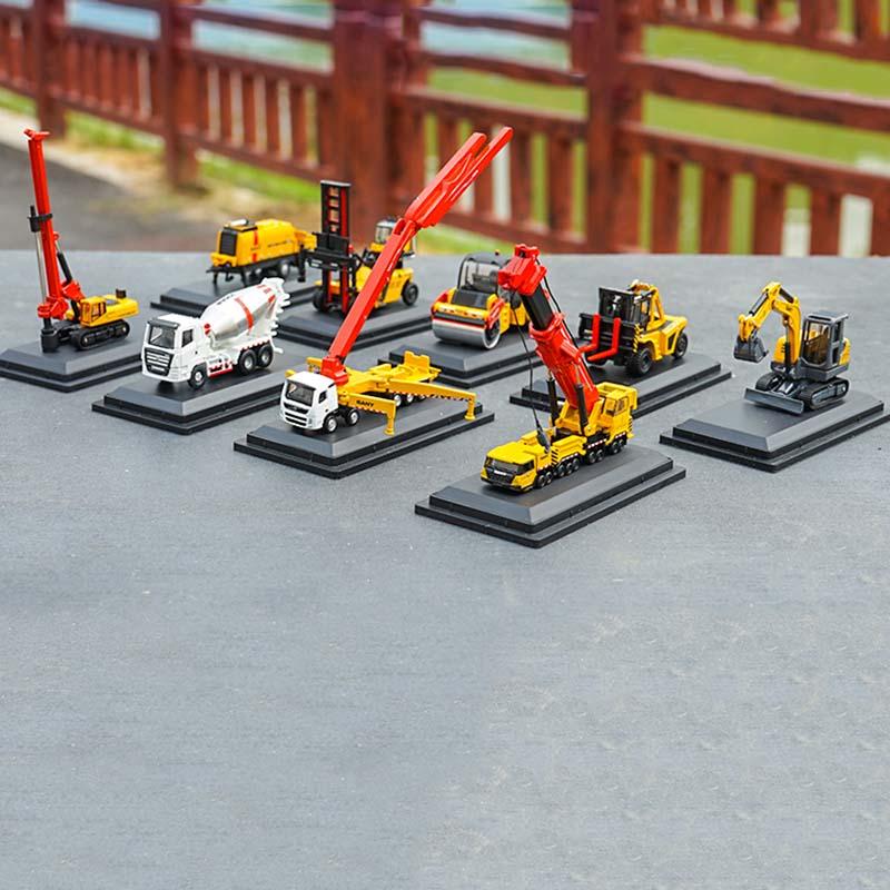 1/87 Mini Trinity SANY grúa excavadora bomba camión mezclador rodillo de carretera plataforma giratoria aleación ingeniería maquinaria modelo coche juguete recoger