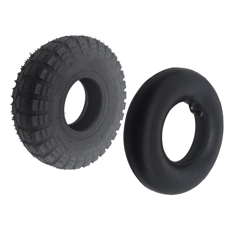 Neumático 4,10/3,50-4 410/350-4 ATV Quad Go Kart 47Cc 49Cc Chunky 4,10-4, tubo interno compatible con todos los modelos, neumático de 3,50-4 pulgadas