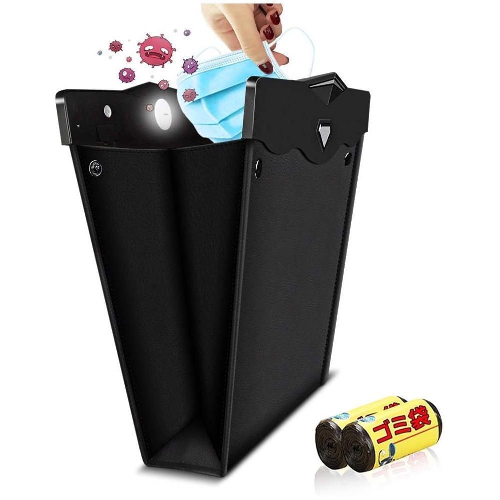 À prova dwaterproof água led carro lixo pode auto banco de trás pendurado saco carro-estilo organizador de armazenamento leakproof lixo accessorie interior ca h0c1