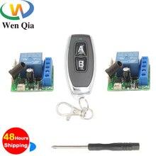 433Mhz universel sans fil télécommande commutateur DC 12V1CH relais récepteur Module 1 RF émetteur 2 récepteurs pour lampe Smart Room