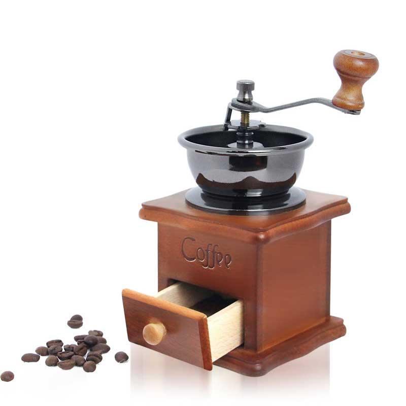 المحمولة الرجعية سجل كرنك اليد ماكينة القهوة طاحونة القهوة المنزلية الصغيرة