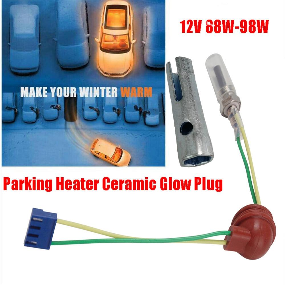 12V 88W-98W Parking Heater Ceramic Glow Plug For Auto Car Boat Truck For Auto Diesel Parking Heater Parts Ceramic Pin Glow Plug