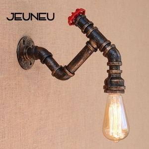 American Country Wall Lamp with Edison/led Bulb E27 Lights Iron Water Pipe Vintage Wall Light for Cafe Hallway Bedroom Study Bar