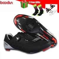 professional road bike shoes add pedals carbon fiber sole self locking sport breathable bicycle riding men sneakers women